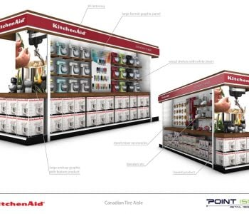 PointISM KitchenAid CTC aisle shop-in-shop retail design