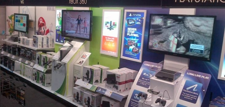 PointISM Playstation PS3 interactive wall retail display Best Buy